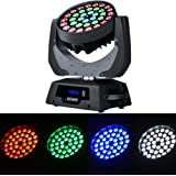 Boudler Pro 36x10W RGBW (4 in1) LED Moving Head Wash Beam Stage Light Spotlight Lamp 14CH DMX512 RGBW for Disco DJ Club…