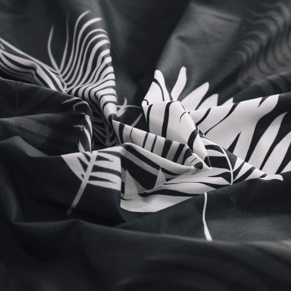 VM VOUGEMARKET Colorful Feather Duvet Cover Set Queen,3 Pieces Lightweight Cotton Reversible Bright Bedding Set with Zipper Closure-Full//Queen,Feather VT006-3Q