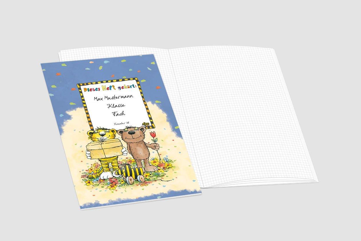 24 lustige JANOSCH-Schulhefte A4, »Tigonaut«, Lineatur 28, 28, 28, Pistaziengelb, personalisierbar, 32 Seiten B076VBHCCQ | eine große Vielfalt  | Sale  | Clearance Sale  7f5fe2