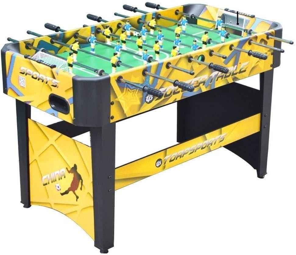 BEANFAN 6 Polo Futbolín Tabla Juguete Batalla máquina de Juego de Doble Mesa Niño Manual (Tamaño: 120x60x80cm): Amazon.es: Deportes y aire libre