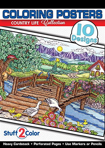 (Country Life - Premium Coloring Poster Tablet (10 Designs))