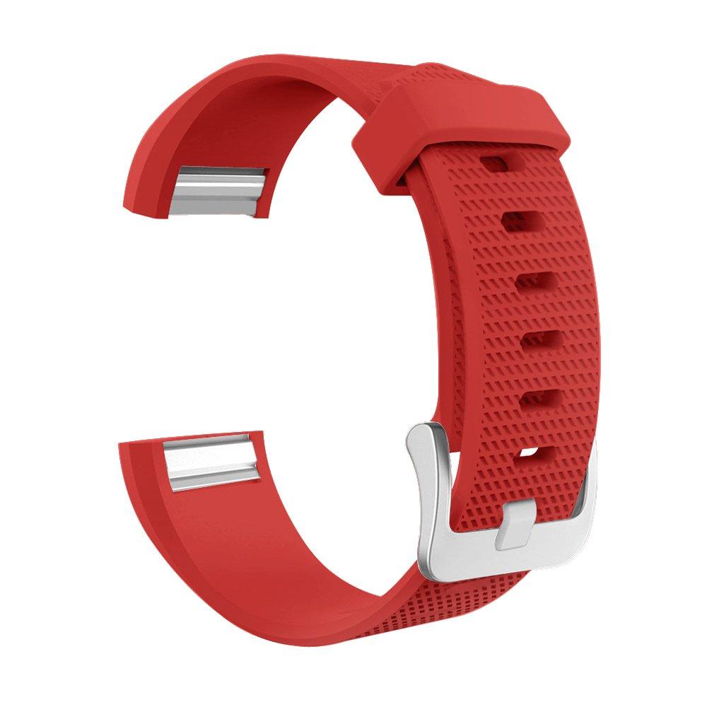 要素Worksシリコンバンドfor Fitbit Charge 2 S レッド S レッド レッド S B078KCXTTJ