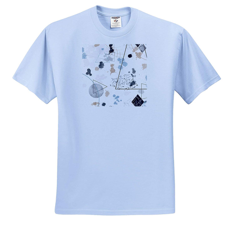 Adult T-Shirt XL 3dRose Janna Salak Designs Humor ts/_319866 Abstract Minimalist Splatter Design