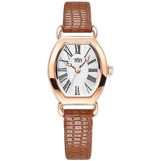 Pequeño fino retro Dial cuero reloj de correa/ reloj de señora cuarzo decorativo de moda-C: Amazon.es: Relojes
