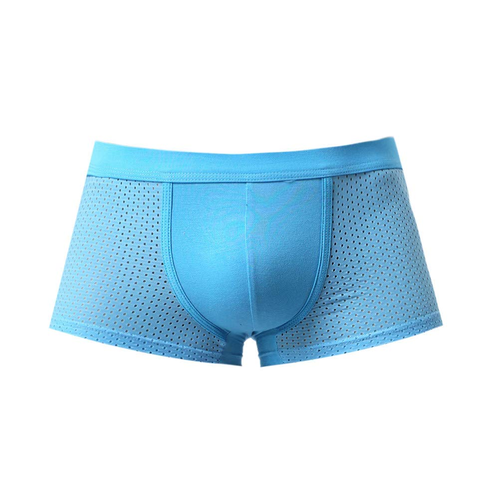 Anglewolf Men Patchwork Underwear Knickers Boxer Mesh Briefs Shorts Bulge Pouch Underpants Ice Silk Men's Breathable Seamless Mens Set Soft Trunks Slim Shirts Breathable Thongs China