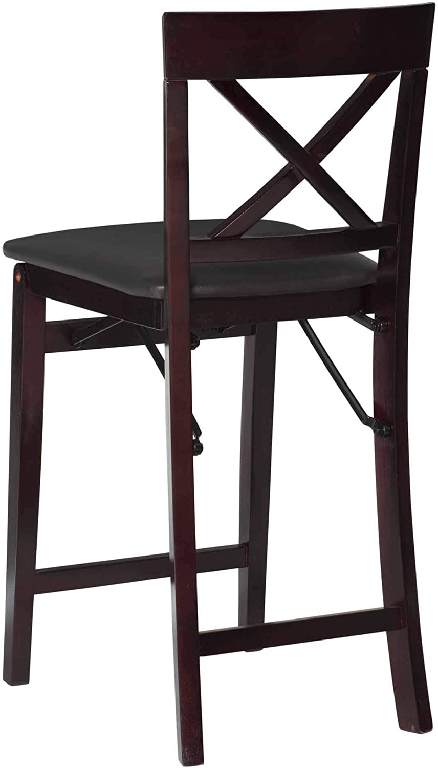 Linon Triena X Back Folding Counter Stool