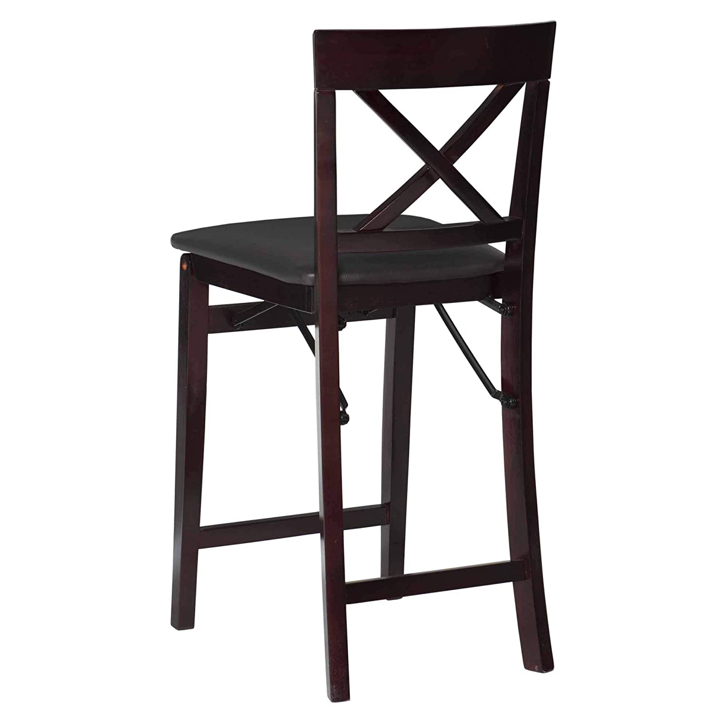 Linon 01850ESP01ASU Triena X Back Folding Counter Stool, Brown