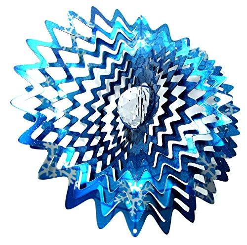 - WorldaWhirl Whirligig 3D Wind Spinner Hand Painted Stainless Crystal Splash Star (12
