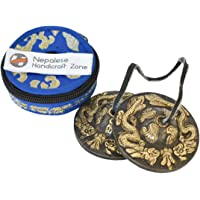 """NHZ Tingsha Tibetan Meditation Bell 2.5"""" Embossed with free case (Antique Finish)"""
