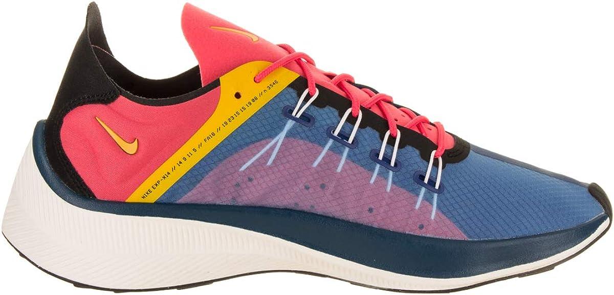 Nike Men's EXP-X14 Running Shoe Blue Force/Yellow Ochre