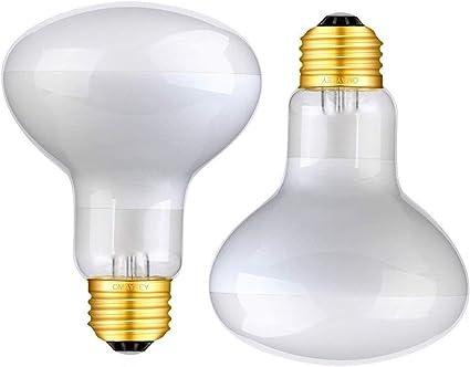 OMAYKEY 50W 2 Pack Basking Spot Heat Lamp Bulb Soft White Glow UVA Glass Cover Heat Lamp//Bulb//Light for Lizard Chameleon Bearded Dragon Snake Aquarium Reptile /& Amphibian
