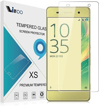 Sony Xperia XA Cristal Templado, Vikoo 9H 2.5D 0.26m Ultra Delgado Shatterproof Protector de Pantalla de Vidrio Templado HD Flim Tepered Glass Screen Protector para Sony Xperia XA Smartphone: Amazon.es: Electrónica