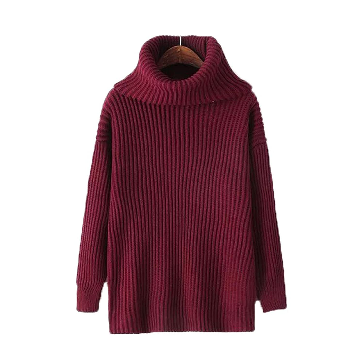 Kayleen Cordeiro Women's Casual Winter Thick Turtleneck Loose Pullover Sweaters