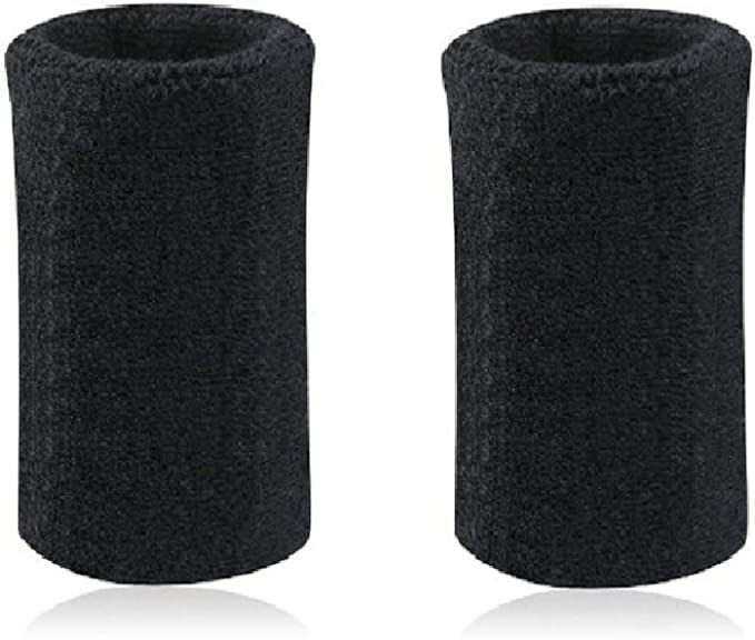 "Lot of 2 GOGO Mens Womens Wristband Sweatband Pack 6/"" L Thick Cotton Wristband"