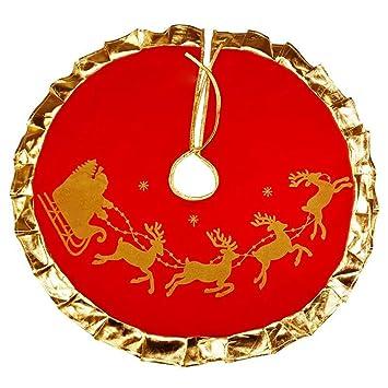 Weihnachtsbaum Gezeichnet.1buy 90 Cm Weihnachtsbaum Röcke Colth Goldkante Hirsch Gezeichnet
