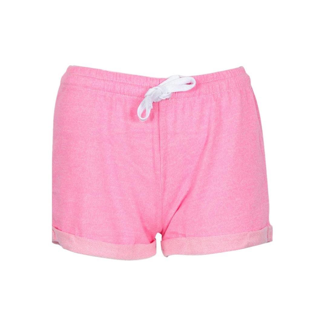 BSGSH Women Shorts Casual Athletic Hot Shorts Lounge Sweat Shorts Elastic Waist (S, Pink)