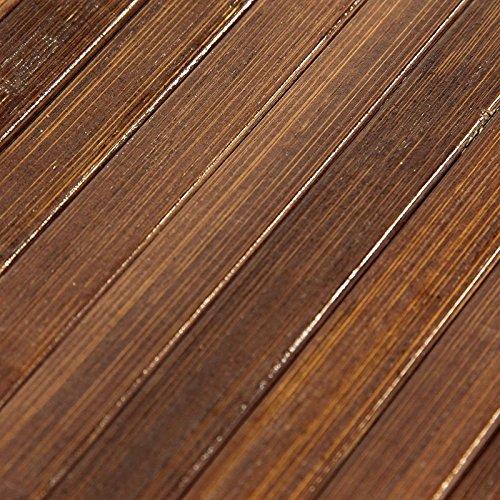 Tapis En Bambou Larges Lattes Et Ganse Chocolat 60x90cm Solo Bamboo ...