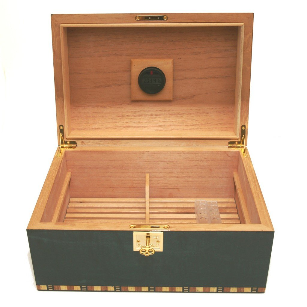 Cigar Star Cigar Humidor Limited Edition Blue Havana SPECTACULAR Details. by Cigar Star (Image #4)
