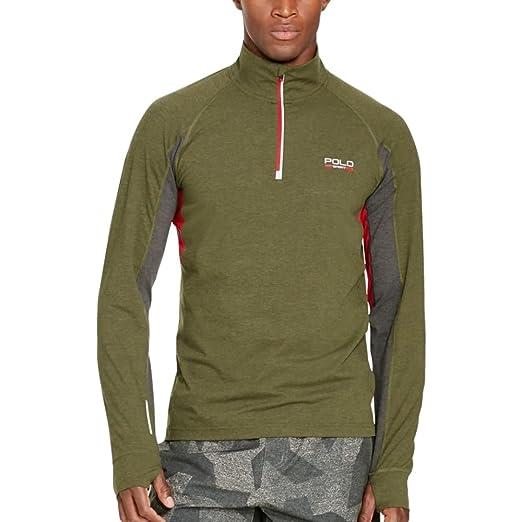be7587b4f Polo Ralph Lauren Sport Men s Jersey Mock-Neck Pullover (XXL) at ...