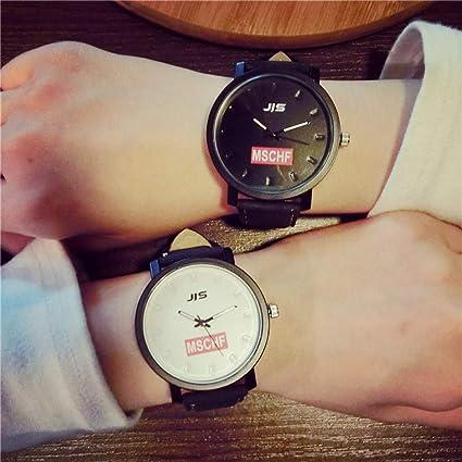 ZNCD Hombres Y Mujeres Tendencia Reloj Moda Simple 2 Piezas Casual Correa Amante Moda Japón Influx