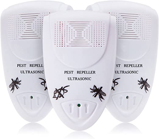 cucarachas ratones Dispositivo repelente de plagas para insectos ara/ñas Ndier repelentes ultras/ónicos de plagas set de 3 ratas
