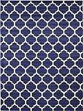 Unique Loom Trellis Collection Moroccan Lattice Dark Blue Area Rug (9' 0 x 12' 0)