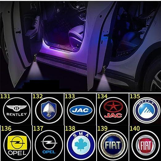 4 PCS luces de proyector de puerta de coche LED Luz de bienvenida ...