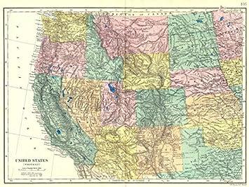 Amazon.com: USA WEST. California Nevada Oregon Washington Idaho ...