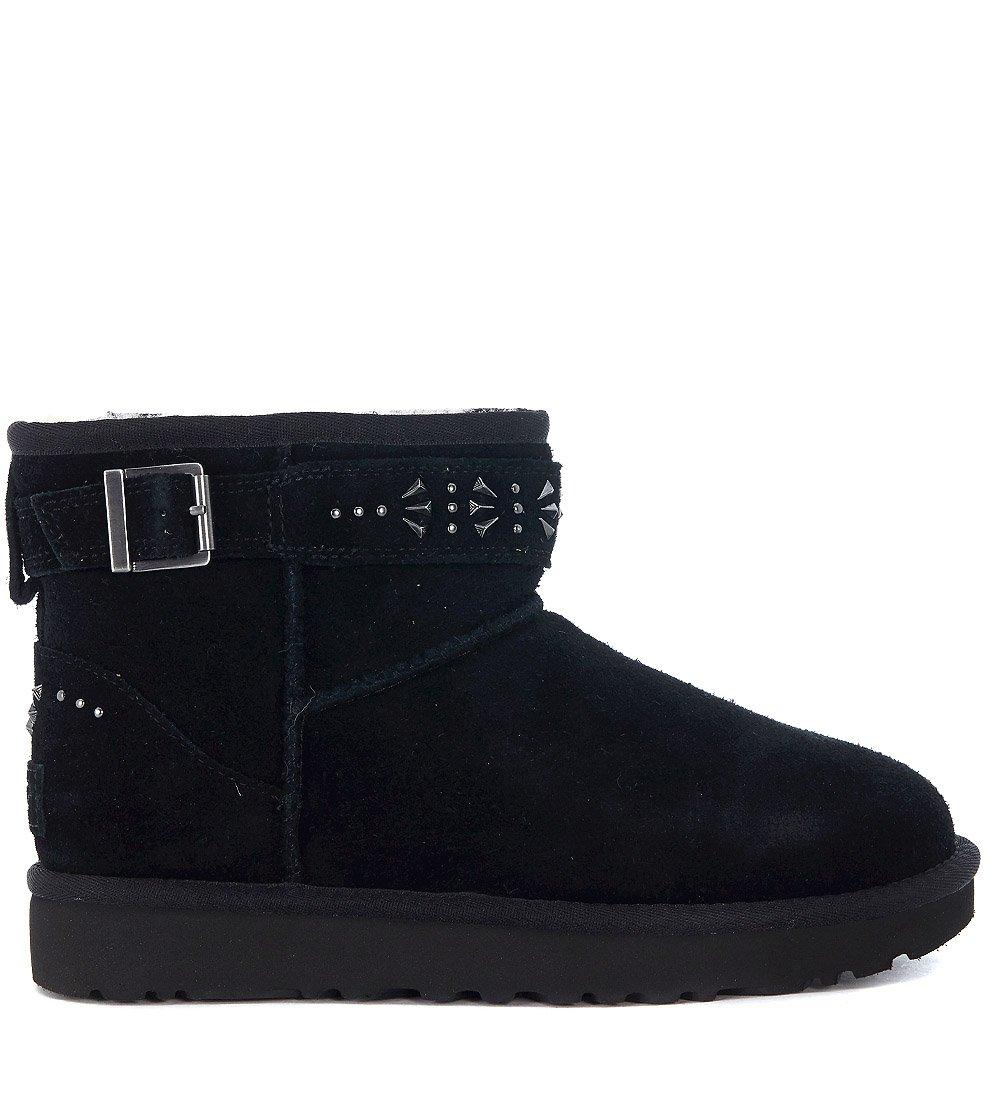 UGG Womens Jadine Shearling Boot Black Size 5
