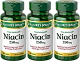Nature's Bounty Time Released Niacin 250 Mg., 90 Capsules(Pack of 3)