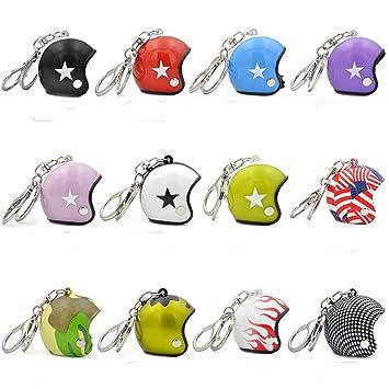 12 llaveros creativos para casco de bicicleta, cascos de ...