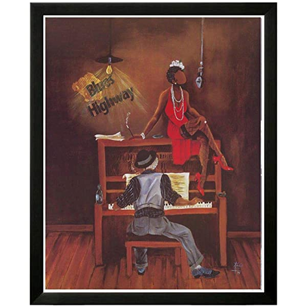 "New Framed African American Art by Annie Lee ""On Q/"" Music Print Poster"