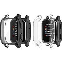 HEYUS [2 Pack] Protective Case Cover for Garmin Venu Sq/Venu Sq Music, Full Body Screen Protector Case TPU All-Around…