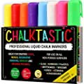Chalk Markers by Fantastic ChalkTastic Best for Kids Art Chalkboard Labels | Menu Board Bistro Boards | 8 Glass Window Markers | non-toxic Erasable Liquid Pens Chisel or Fine Tip | Neon Colors plus White
