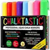 Image of Chalktastic CHALK MARKERS & Pens by FANTASTIC ChalkTastic BEST for Kids Art Menu Board Bistro Boards - 8 Glass & Window Markers & Erasable Pens - Reversible 6mm Fine or Chisel Tip - Bright Neon Colored Plus White