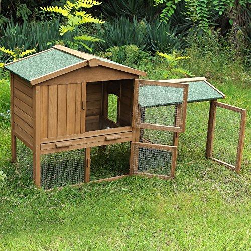 Songmics gabbie conigli conigliera coniglio gabbia per for Piccoli piani domestici vittoriani
