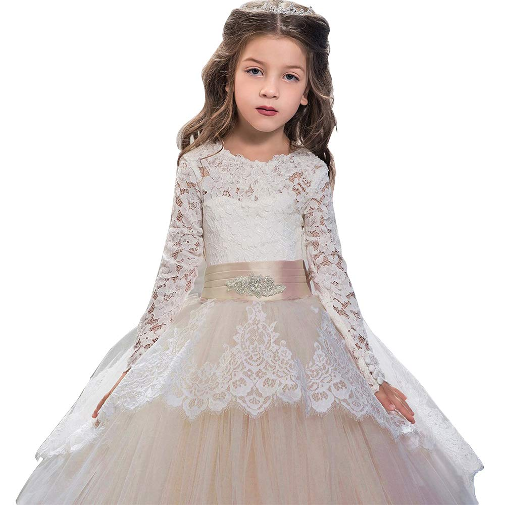 f7701ed739c60 Long Flower Girl Dresses - raveitsafe