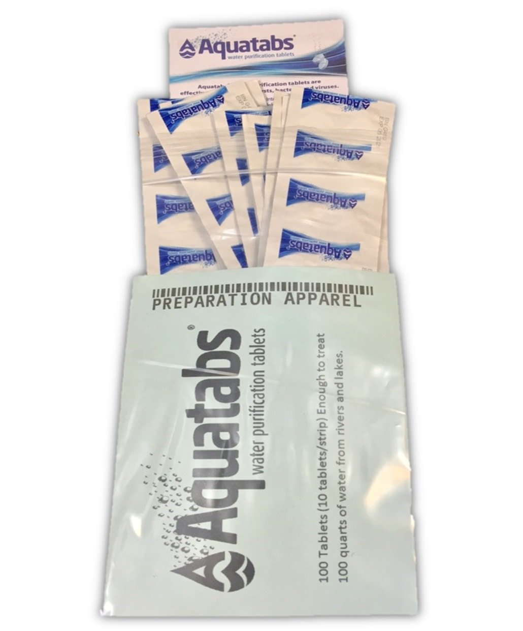 Aquatabs Water Purification Tablets 100/Pack 4