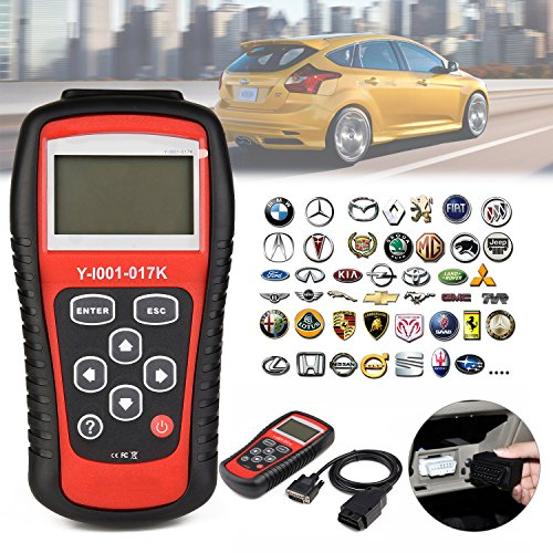[Car OBD2 Scanner, Auto Engine Light Code Reader Diagnostic Scan Tool, kiwitatá CAN Computer Error Codes Erase Clear Reset for Toyota Ford Benz GM BMW Nissan All OBD2 Protocol Cars Since 1996] (Engine Light Car)