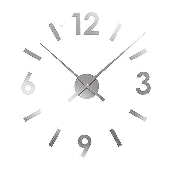Versa 166601 16660120 Reloj de Pared Adhesivo Gris Pegatina, Dimensiones Regulables, S/M/L: Amazon.es: Hogar