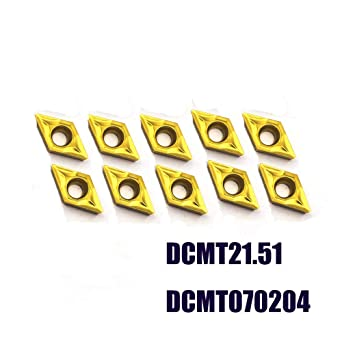 Pack of 10 CCMT09T304 TiN coated carbide inserts