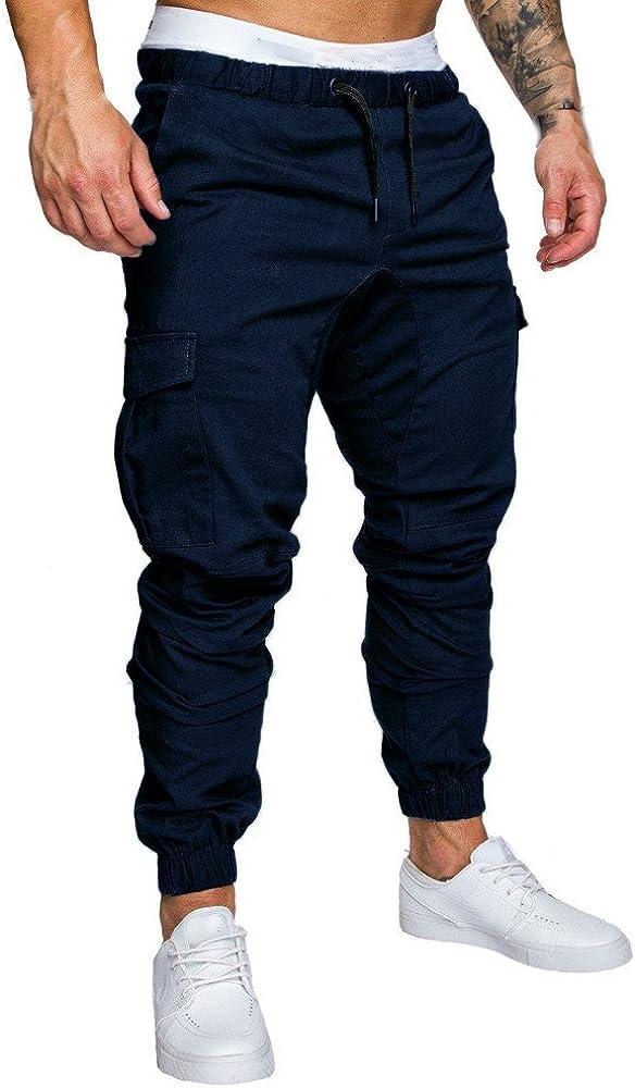 ZEZKT Freizeit Men Kleidung Casual Jogger Hose Jogger Taschen Motiv Street Style Sporthose Trainingshose Sweathose Slim Fit Freizeithose Vintage Trainingsanzug