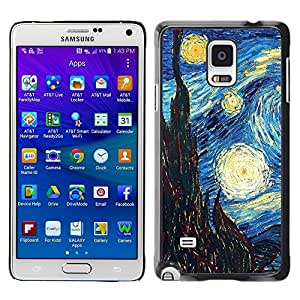 LOVE FOR Samsung Galaxy Note 4 Gogh Starry Night Art Painting Personalized Design Custom DIY Case Cover