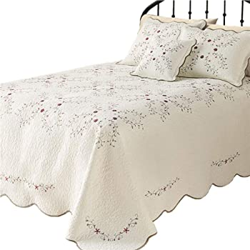 Amazon Com Lelva Oversized Embroidery Bedspreads Bed