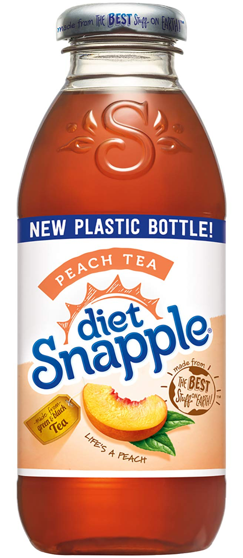 Diet Snapple Peach Tea, 16 fl oz (24 Plastic Bottles)