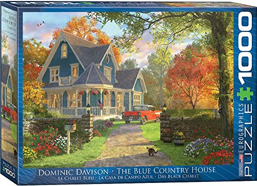 Puzzle 1000 House Piece (EuroGraphics The Blue Country House Dominic Davison 1000-Piece Puzzle)