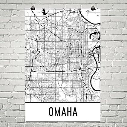 Amazon Com Modern Map Art Omaha Poster Omaha Art Print Omaha Wall
