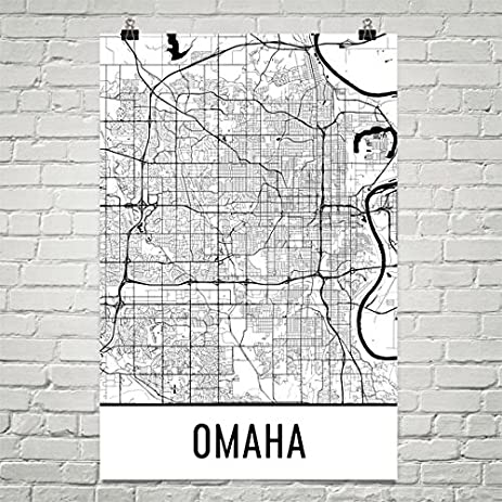 Amazoncom Omaha Poster Omaha Art Print Omaha Wall Art Omaha - City map of nebraska