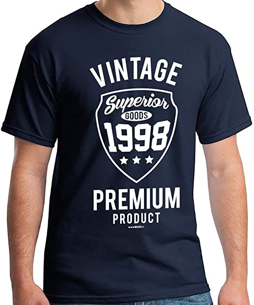 21st Birthday Gifts For Men Vintage 1998 T Shirt Amazoncouk Clothing