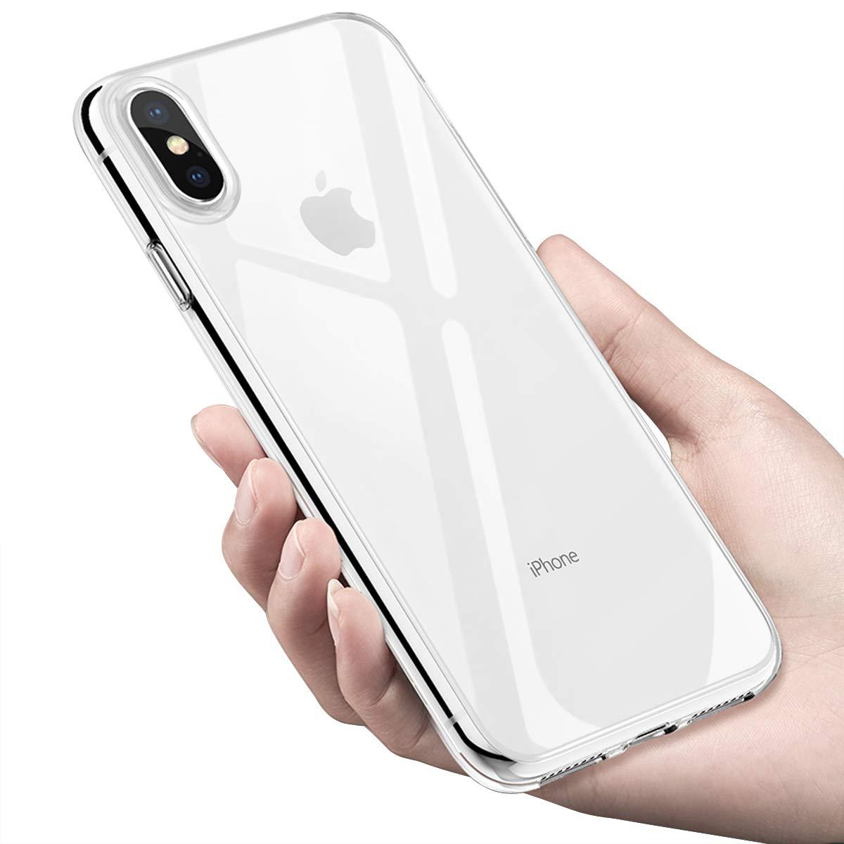 Funda iPhone XS Max, Infreecs Carcasa iPhone XS Max Teléfono Móvil Ultra Fina Cover Anti-Arañazos Anti-Shock Funda Suave TPU Gel Case Bumper Silicona Case para iPhone XS Max Case Cover - Transparente